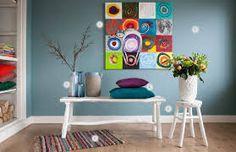blauwe muur slaapkamer - Google zoeken More