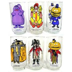 McDonald's Playland Set of Glasses.  I had these, couldn't drink out of them because of the LEAD paint!!  haha!