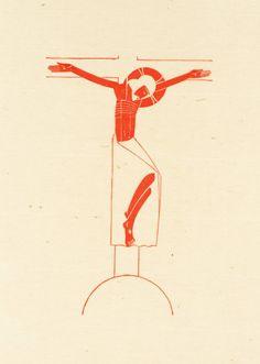 Artwork page for 'Crucifix', Eric Gill, 1917 Religious Icons, Religious Art, La Madone, Jesus Art, Biblical Art, Catholic Art, Art Icon, Orthodox Icons, Art Graphique