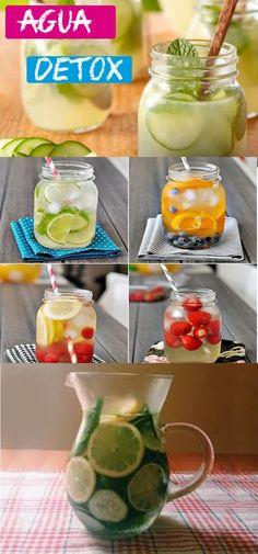 Conheça os três tipos de água detox que lhe farão emagrecer #aguadetox #detox #emagrecer #dieta #mulher