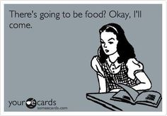 Yep... food does it for me every time