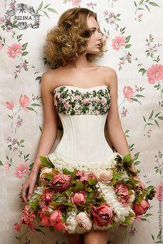Корсеты ручной работы. Ярмарка Мастеров - ручная работа Корсет Розовые Розы. Handmade.