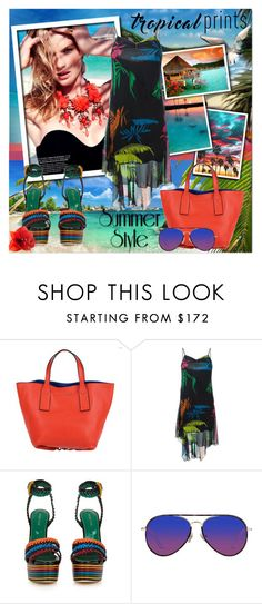 """""""Tropical Summer"""" by lastchance ❤ liked on Polyvore featuring Seychelles, GUESS, Bora Bora, Marc Jacobs, Diesel, Sergio Rossi, Matthew Williamson, tropicalprint and lastchance"""