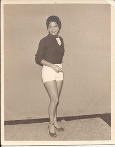 Betty Wears Hot Pants, White Shorts, Vintage Photograph, Pin-Up Photo, Black and White Photo, Pretty Girl in Heels, Betty Bombshell by BettywasaBombshell on Etsy