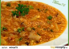 Czech Recipes, Ethnic Recipes, Yams, Weight Loss Smoothies, Soup Recipes, Curry, Food And Drink, Yummy Food, Homemade