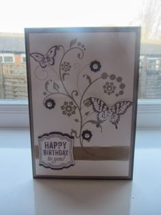 Stampin Up Flowering Flourishes Birthday card