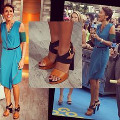 "Celebrity Worthy PICC Line Cover. Robin Roberts wearing ""Holly"" PICC Cover Fashions TM arm band sleeve by 'Cast Cover Fashions'. June 2012 in NYC Photo by diandre_tristan Robin Roberts, Rachel Roy Dresses, Walking Boots, Fendi, Arm, It Cast, June, Celebrity, Pumps"