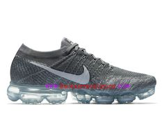 finest selection 7ae6a 09c03 Nike Air VaporMax Flyknit Coussin Dair Classique Homme Dark Grey  849558002-Voir Nike hommes,