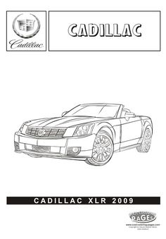 cadillac xlr cars coloring pages