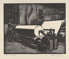 Charles Gardner (1901-1974) - Paper Making, 1935-43