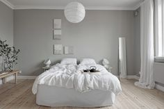 Serene Scandinavian bedroom
