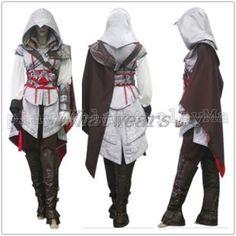 XX Womens Hot Assassin's Creed Ezio II Anime Cosplay Costume White Suit J0001 | eBay