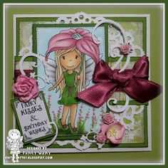 The Paper Nest: Fairy Ellie with Flower Umbrella #tracywray #thepapernest