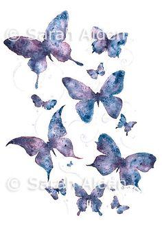 Butterfly Art Print - Silhouette Butterflies