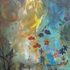 Rejuvenate a butterfly in a garden print - Artist: Robin Pedrero