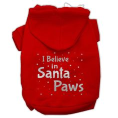 Here comes Santa Paws, right down Santa Paws lane! Well, that's what we're singing along to here anyway. This Christmas dog hoodie by Mirage will have you ready for Christmas in great style, and who k
