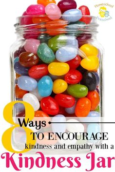 Kids bickering and complaining? Encourage kindness and empathy with a family kindness jar. Encourage kids to speak, act kindly and to think about others.  via @homeschlprek