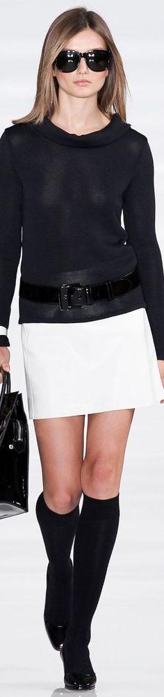 Ralph Lauren ~ Black and White Spring Fashion