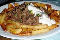 Hovädzí stroganov (fotorecept) - Recept Slovakian Food, Steak, Pork, Beef, Recipes, Foods, Recipies, Kale Stir Fry, Meat