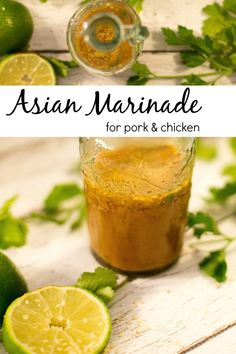 Asian Marinade for Pork and Chicken - So, I've been thinking. Asian Marinade for pork and chicken uses traditional Asian flavors and fresh ingredients for a simple, bursting with flavor marinade. Asian Marinade For Pork, Pork Marinade Recipes, Asian Pork Chops, Chicken Thigh Marinade, Chicken Marinades, Pork Chop Recipes, Chicken Recipes, Tofu Marinade, Chinese Chicken Marinade