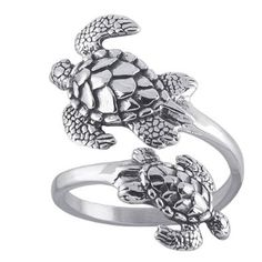 Sea Turtles Sterling Silver Ring Sea Turtle Adjustable Bypass Nautical Nature Ocean Jewelry ** You can find out more details at the link of the image. (This is an affiliate link) Sea Turtle Jewelry, Ocean Jewelry, Nautical Jewelry, Cute Jewelry, Turquoise Jewelry, Silver Jewelry, Silver Rings, Unique Jewelry, Jewelry Rings