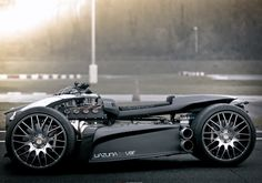 The mean Wazuma V8F made by 'Lazareth' with a V8 Ferrari Engine & BMW M3 Gearbox & and HUGE Wheels! See more photos here.