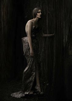 Darkly Shimmering Fashion  The Sapto Djojokartiko 2012 Lookbook is Romantically Gothic