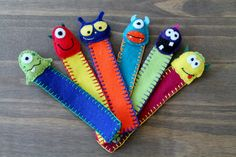 Made to Order - Alien and Monster Bookmarks    I have created a collection of colourful and quirky bookmarks. From bookmarks decorated with buttons