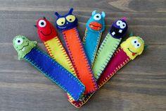 Felt Bookmark  Monster and Aliens by FeltAmazed on Etsy, £4.00