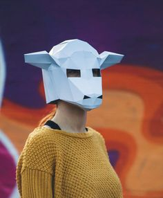 Paper Sheep /Lamb Mask Papercraft Template by Paperpetshop on Etsy