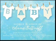 Cute onsie clothesline baby shower invite! Precious!!