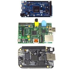 Figure 1. The Arduino Due has a Cortex-M3 microcontroller (a) that brings it a little closer to the Raspberry Pi (b), which has an ARM11 Bro...