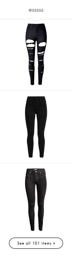 """""""esssss"""" by xoxominyeol ❤ liked on Polyvore featuring jeans, pants, bottoms, calças, high rise skinny jeans, high waisted ripped jeans, ripped jeans, high waisted stretch skinny jeans, ripped skinny jeans and levi skinny jeans"""
