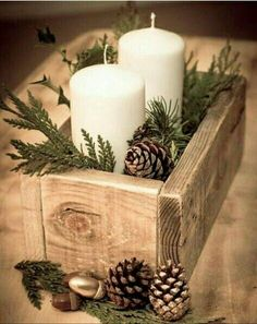 20 Magical Christmas Centerpieces That Will Make You Feel The Joy Of The Holidays - Dekoration Ideen Diy Christmas Decorations Easy, Decorating With Christmas Lights, Holiday Centerpieces, Christmas Table Settings, Christmas Crafts, Christmas Christmas, Christmas Candles, Wedding Centerpieces, Rustic Centerpieces