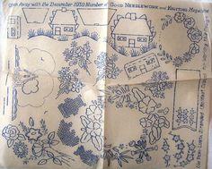 2 Vintage Iron-on Embroidery Transfers by ADisinheritedKnight