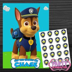 INSTANT DOWNLOAD  Paw Patrol  Pin The Badge  by PartyHeadquarters