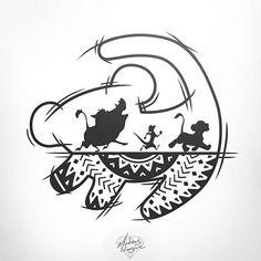Lion King Drawings, Lion King Art, Lion King Tattoos, Lion King Quotes, Tattoo Outline Drawing, Outline Drawings, Disney Crafts, Disney Art, Art Roi Lion
