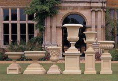 Pedestals and Plinths Garden Urns, Garden Statues, Container Plants, Container Gardening, Landscape Design, Garden Design, Balcony Railing Design, Pot Jardin, Urn Planters