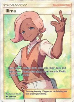 Ilima Trainer Full Art 146/149 Hyper Rare Near Mint Pokemon TCG Sun & Moon