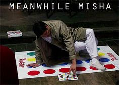 So flipping funny! Just Cas playing Twister. NBD