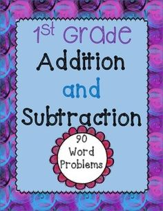 90 Word Problems for addition and subtraction (1st grade)!  This packet is the ultimate packet for math problem solving.  It has super easy ones for the beginning of the year and the word problems get progressively more difficult.  No prep needed!  They are ready to print and go.