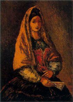 Arturo Souto (Spanish: 1902-1964) - Portrait of woman