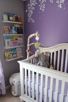 Superb disney nursery - go and visit our story for lots more inspirations! Baby Girl Nursery Themes, Nursery Crib, Elephant Nursery, Nursery Ideas, Girl Nursery Purple, Nursery Neutral, Neutral Nurseries, Project Nursery, Nursery Inspiration