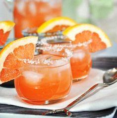 Greyhounds (aka Fresh Squeezed Grapefruit Juice + Vodka)