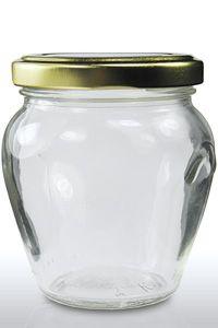 212ml Orcio Glass Jar & 63mm Gold Twist Off Lid