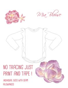 f2fb3e9f651e MIA Girl Baby Girl t-shirt pattern Pdf sewing