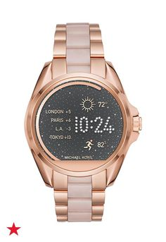 Stay on top of your day's goals and activities with this rose gold Michael Kors smart watch without compromising style for functionality. Shop now at Macy's!