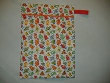 Adorable Robot Pattern Wetbag by BrooksiesBricABrac