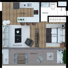 Small Apartment Layout, Studio Apartment Layout, Small Apartment Interior, Small Studio Apartments, Cool Apartments, Small Floor Plans, Small House Plans, House Floor Plans, Apartment Floor Plans