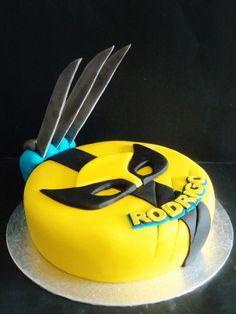 A Wolverine cake to a boy. Baby Birthday Themes, Superhero Birthday Party, Boy Birthday, Birthday Parties, Birthday Ideas, Birthday Cake, Feliz Compleanos, Wolverine Cake, Marvel Cake